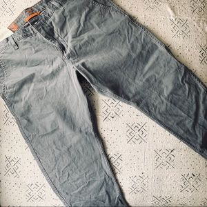 3/$25 Dockers Slim Tapered Grey Cotton 42 x 30